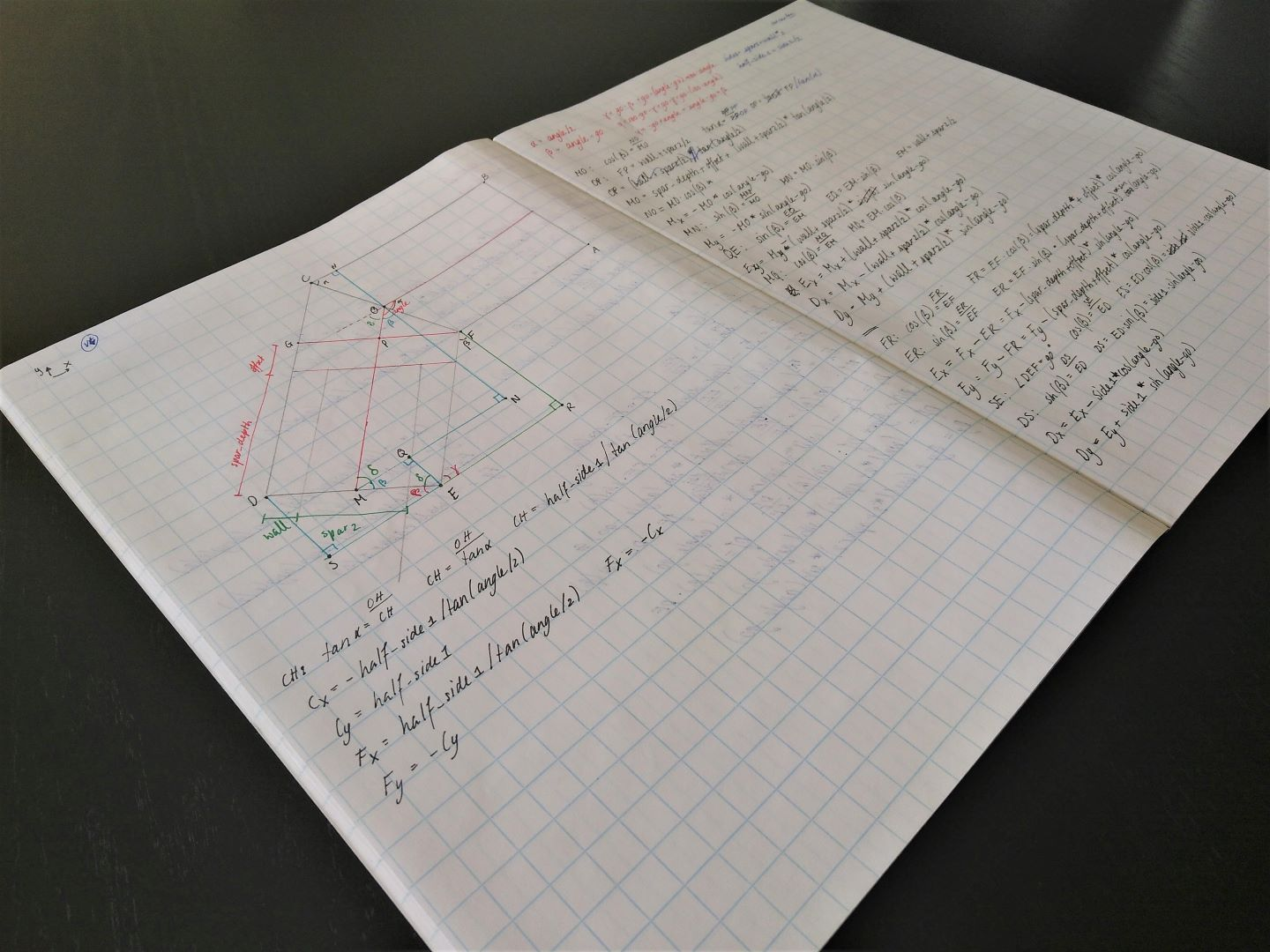 kite part calculations
