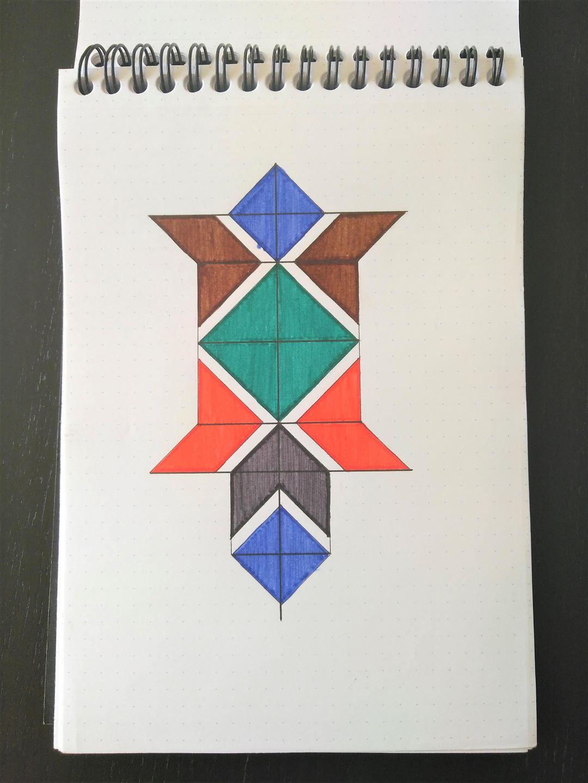 mosaic kite